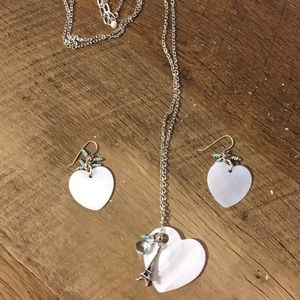 American Eagle Sterling Necklace and Earrings